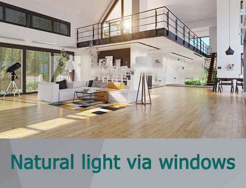 Natural light with windows interior