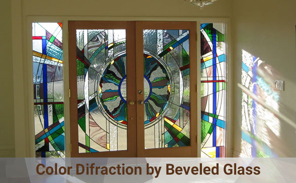color difraction by beveled glass windows