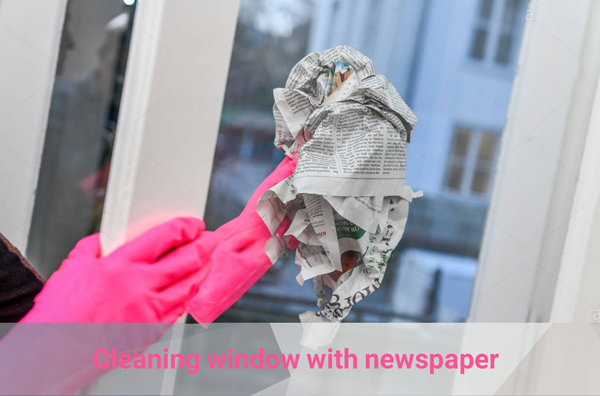 newspaper for window cleaning