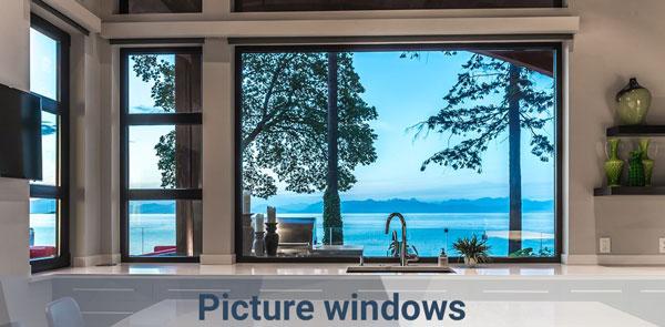 picture kitchen windows